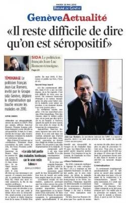 Tribune de Genève - 25 mai 2010