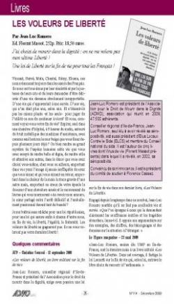 Bulletin ADMD Suisse - décembre 2009