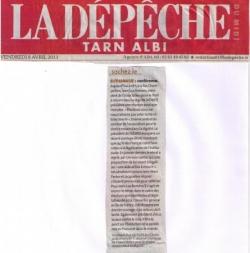 La Dépêche du Midi - 8 avril 2011
