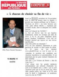 Nouvelle République des Pyrénées - 15 mars 2011