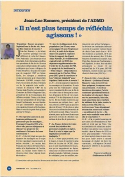 Interview dans Transition - novembre 2010