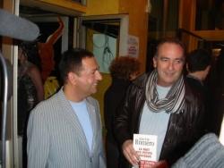 Yves Lecoq avec mon livre