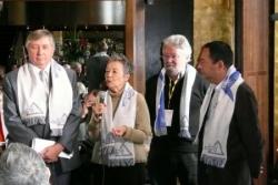 Avec les parlementaires Fouché, Lalonde et Huss