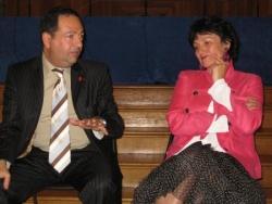 Avec la maire du 4ème ardt Paris - juin 2009