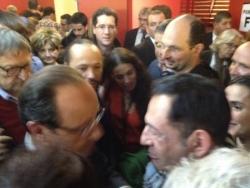 Avec F. Hollande - 29 avril 2012