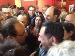 Avec F. Hollande et Yael Nahim - 29 avril 2012