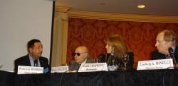 Avec Henri Caillavet et l'écrivaine Noëlle Chatel