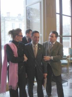 Avec Xavier Bertrand et Sheila