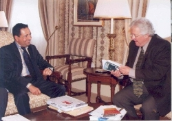 Avec Jean-Paul L'Allier, maire de Québec en mai 2