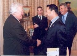 avec le Maire de Québec, philippe Lohéac en mai 20