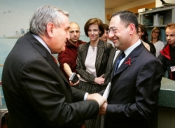Avec Jean-Pierre Raffarin