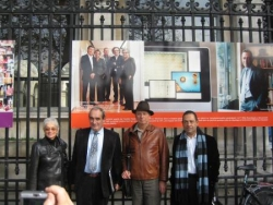 Inauguration du panneau sida hôtel Dieu oct 2008