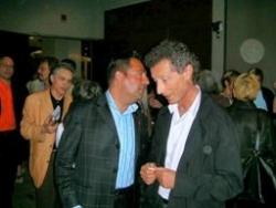 Avec le Pr Rozenbaum au Congrès du sida à Toronto