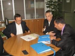Avec le maire de Béthune le 5 sept 2008