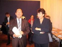 Avec R Bachelot le 16 oct 2008