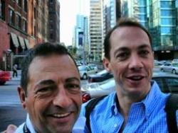 Avec Philippe Lohéac au Congrès du sida à Toronto