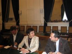 Avec la députée maire de Pau - fev 2009