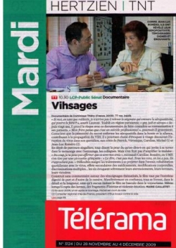 VIHsages dnas Télérama du 28 nov 2009