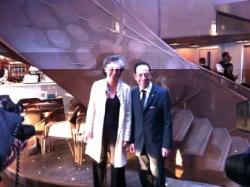 Avec la présidente de Sol en Si - 7 juin 2011