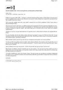 VIHsages et AFP 30 nov 2009