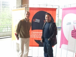 Avec P. Loheac le 17 mai contre l'homophobie