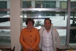 Montréal avec L. Pinault, dg de COCQ Sida déc 2007