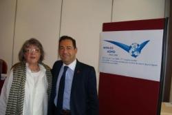 Avec Lydie ERR, députée du Luxembourg le 7 juin 20