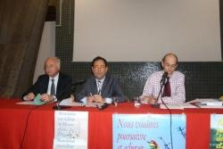 ALyon avec le député Touraine et H. Sapin pour ADM
