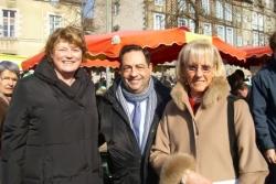 Avec la députée Olivier-Coupeau à Rennes 2008