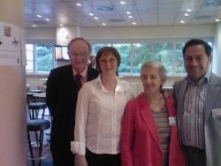 Avec la Présidente de la WFRtDS et Mme Welby