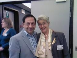 Avec Elke Baezner, présidente RTD Europe