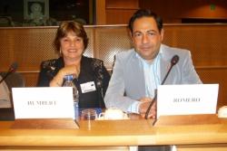 Avec Marie Humbert à Bruxelles le 5 juillet 2007