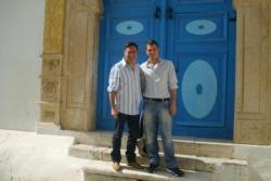 Avec Chris à Sidi Bousaïd fev 2008