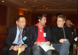 Avec Jean-Edouard Lipa aux 25 ans de l'ADMD