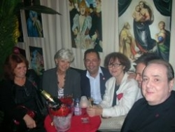 Avec Michel,Françoise, Chantal au Banana en oct 20