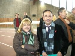 Avec la chanteuse Nicoletta le 1er décembre 2005