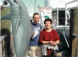 Avec maman à Miami pour Noël 2004