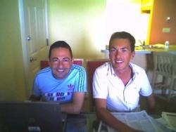 Avec Ludo en août 2006 à Fort Lauderdale